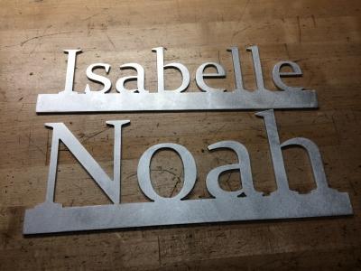Plasma cut name plates