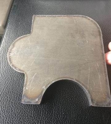 Plasma cut sample piece